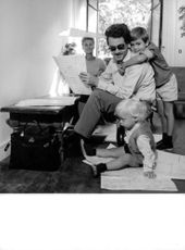 Michel Legrand with his family in 1954.