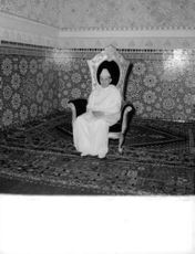 Mohammad sitting on a chair