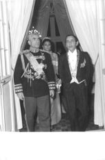 Mohammad Reza and Farah with King Hassan II during their state visit to Morocco (1966)