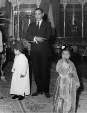 King Hassan II with his children.