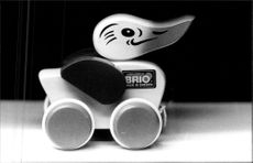 Brio also manufactures toys that small children can drive and drag around on the floor.