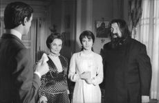 Geraldine Chaplin and Gert Fröbe in I killed Rasputin..