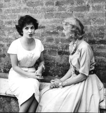 Gina Lollobrigida with Clare Luce, American ambassador to Italy.