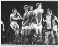 Hollins, Rix, Talbot and Price playing for Arsenal