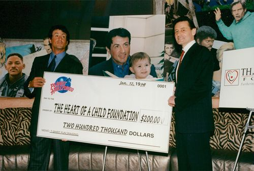 """Sylvester Stallone donates money to """"The Heart of a Child Foundation"""""""