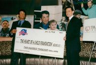 "Sylvester Stallone donates money to ""The Heart of a Child Foundation"""
