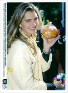 "Actress Brooke Shields with a pumpkin at the ""Celebrity Halloween Event"" for children with cancer"