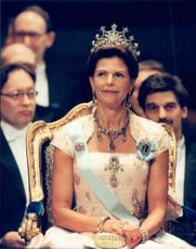 Queen Silvia at the Nobel Prize Awards in Stockholm Concert Hall