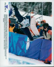 Nicola Tost from Germany in the Olympic Games in Women's Halfpipe, Snowboard.