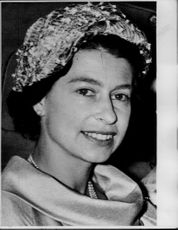Portrait of Queen Elizabeth II of England.