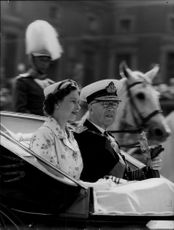 Portrait of Queen Elizabeth of England together with King Gustaf Adolf