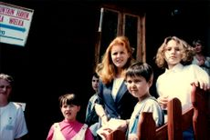 Sarah Ferguson was at the inauguration of a children's hospital in Lipnica Wielka and socialized with the children.