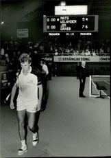 One disappointed Mats Wilander after the loss against American Jim Grabb in the Stockholm Open