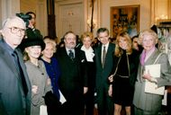 Gianfranco Ferre with friends after viewing for Dior