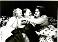 """Sissela Kyle, Per Eggers and Sonja Hejdeman in """"The Children with the Bathing Water"""" at the Pistol Theater"""