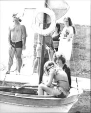Jean Paul Getty, with his family vacation trip.