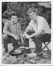 Rick Nelson and Dave Nelson sitting.