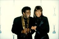 Gospel and soul singer Al Green with Natalie Cole at a ceremony with the Rock & Roll Hall of Fame at Waldorf Astoria