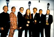 The Eagles at the ceremony with the Rock & Roll Hall of Fame