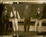 Lasse and Bertil Edin as well as Simon and Frank Ådahl in the pop group Edin-Ådahl perform at the Eurovision Song Contest 1990
