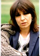 The singer Chrissie Hynde from the rock band Pretenders