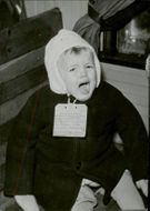 A Finnish child shouting during the evacuation in Finland 1944