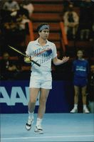 John McEnroe during the match against Novacek in Stockholm Open 1990