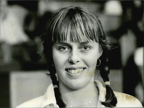 Elisabeth Ekblom after the win in the women's final against Deborah Jevans in Stockholm Open 1978
