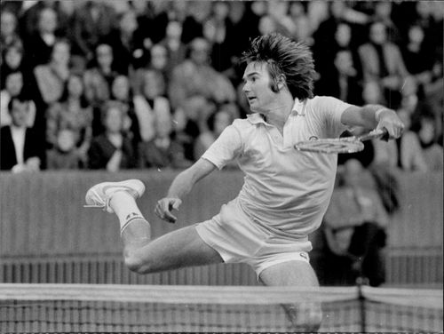 Jimmy Connors in action in the Stockholm Open final
