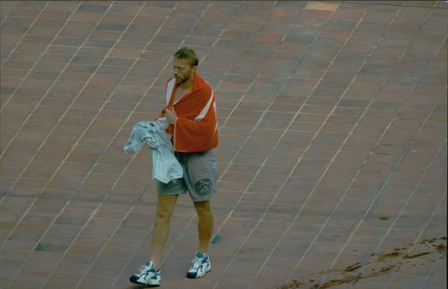 Papparazzi on the tennis player Boris Becker in Monaco.