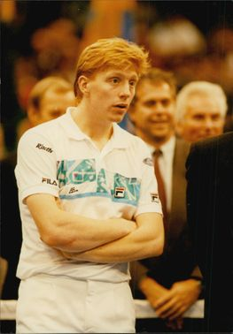 Portrait picture of tennis player Boris Becker taken in an unknown context.