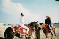 Boris Becker and his wife were invited on a horse ride when they visited the emirates of Qatar.