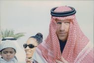 The Becker family greeted the emirates of Qatar.