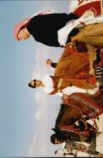 Boris Becker and his wife Barbara were invited on a horse ride when they visited the emirates of Qatar.