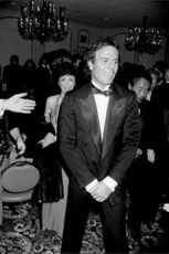 Julio Iglesias at a dinner in Hollywood to celebrate the actor Kirk Douglas.