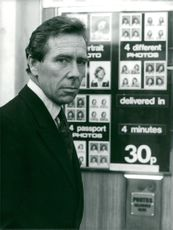 Lord Snowdon at a photo machine