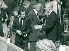 Lord Snowdon with camera on event