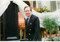 Lord Snowdon at the inauguration of his wife Lucy Linley-Hogg's new furniture store