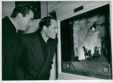 Gregory Peck and Mel Ferrer at Drottningholm Palace Theater