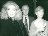 Joan Kennedy with actor Paul Newman and his wife Joanne Woodward