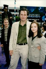 "Portrait of actors Bill Pullman and Christina Ricci at the premiere of film ""Casper""."