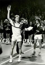 Award ceremony during Stockholm Open 1986
