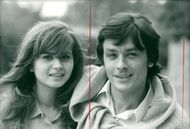 """Actors Maria Schneider and Alain Delon in the movie """"Madly"""""""