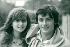 "Actors Maria Schneider and Alain Delon in the movie ""Madly"""