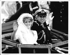 Prince Andrew, Duke of York with his wife