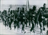 March of the German infantry during World War II in 1941.