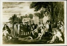 'Penn's Treaty with the Indians' painting by Benjamin West, created in 1772