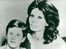 Sophia Loren with the son Edoardo