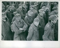 Prisoners standing in queue in Germany.