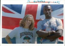 Linford Christie with a woman.
